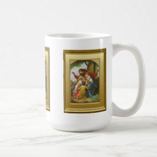 Jesus and the children classic white coffee mug