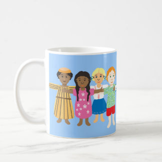 Jesus and the little children classic white coffee mug