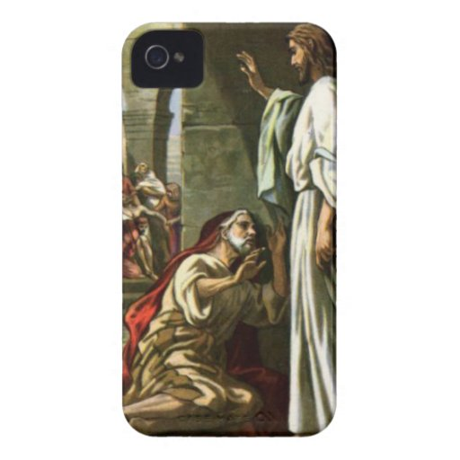 Jesus and the man at the Pool iPhone 4 Covers