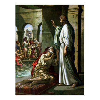 Jesus And The Man At The Pool Postcard