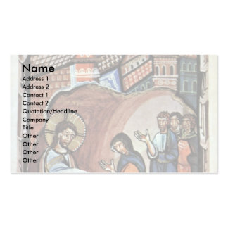 Jesus And The Mother Of Peter By Meister Des Hitda Double-Sided Standard Business Cards (Pack Of 100)
