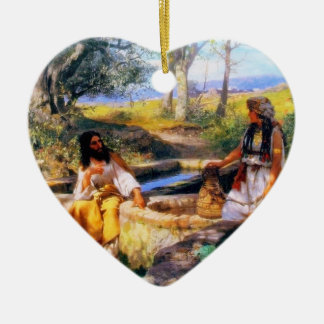 Jesus and the Samaritan Woman at Jacob's Well Orna Ceramic Ornament