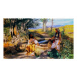 Jesus and the Samaritan Woman at Jacob's well Posters