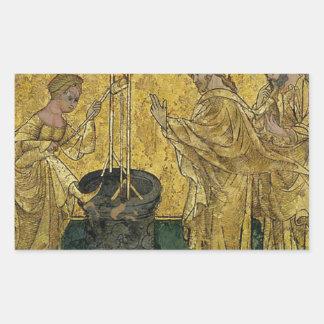 Jesus and the Samaritan Woman at the Well Rectangular Sticker