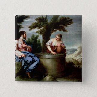 Jesus and the Samaritan Woman Button