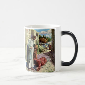 Jesus and the Ten Lepers Magic Mug