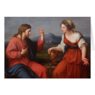 Jesus and the Woman at the Well Greeting Card