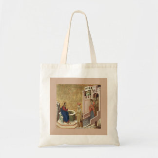 Jesus and Woman at Well Tote Bag