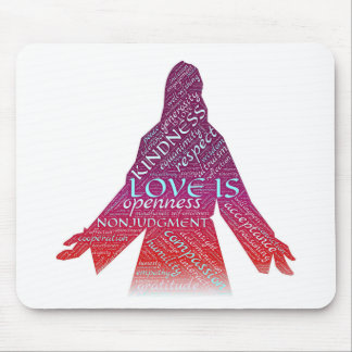 Jesus and words of faith mouse pad