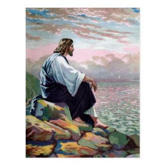 Jesús apacible manso y suave postal