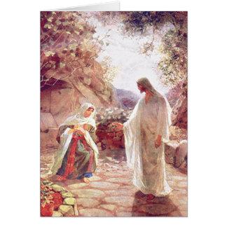 Jesús aparece a Maria Magdalena Tarjeta De Felicitación