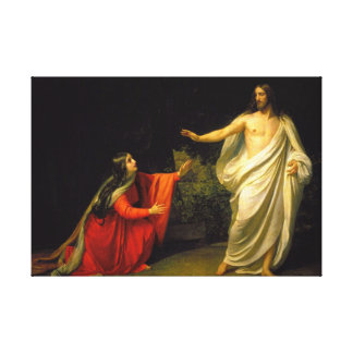 Jesus appears to Mary Magdalene after his resurrec Canvas Print