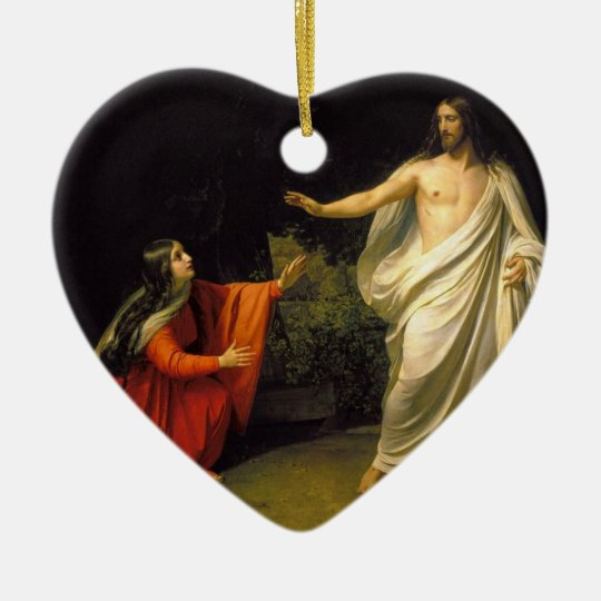 Jesus appears to Mary Magdalene after his Resurrec Ceramic Ornament