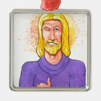 Jesus Approves. Metal Ornament