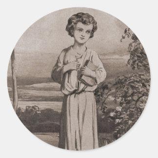 Jesus As A Boy Classic Round Sticker