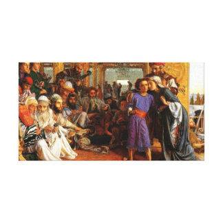 Jesus as a child found in the temple by Mary Jo Stretched Canvas Prints