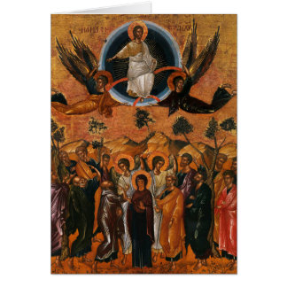 Jesus Ascension to Heaven Card
