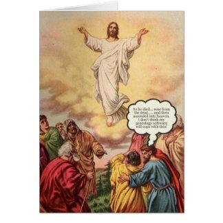 Jesús asciende tarjeta de cumpleaños