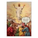 Jesús asciende tarjeta de felicitación
