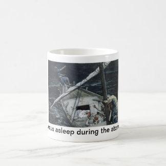 Jesus asleep during the storm coffee mug