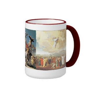 Jesus: Assention Ringer Coffee Mug