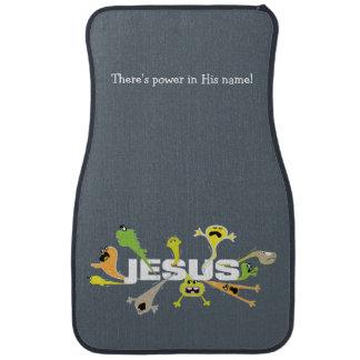 Jesús asustadizo alfombrilla de auto