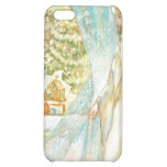 Jesus at Christmas Looking Through Veil of Snow iPhone 5C Cases