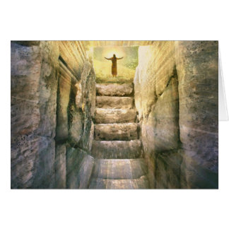 Resurrection gifts on zazzle jesus at empty tomb easter resurrection card negle Gallery