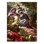 Jesus at Gethsemane postcard