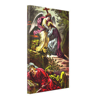 Jesus at Gethsemane  Wrapped Canvas