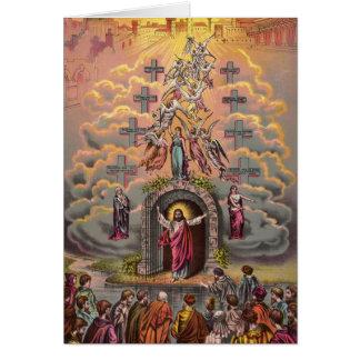 Jesus at Heaven's Gate Greeting Card