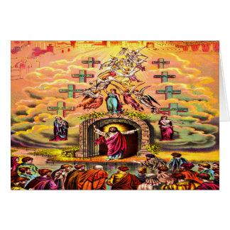 Jesus at Heaven's Gate Greeting card 2