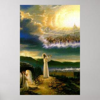 Jesus at Heaven's Gate Vintage poster