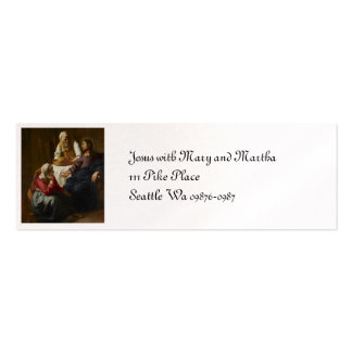 Jesus at Mary and Martha's Home Mini Business Card