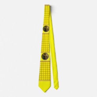 Jesus At Your Door gold foil with yellow texture Neck Tie