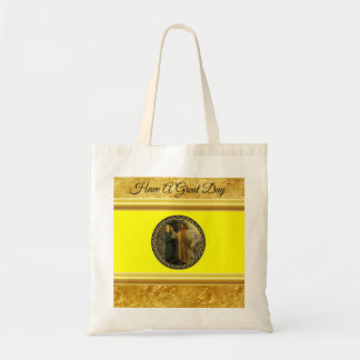 Jesus At Your Door gold foil with yellow texture Tote Bag
