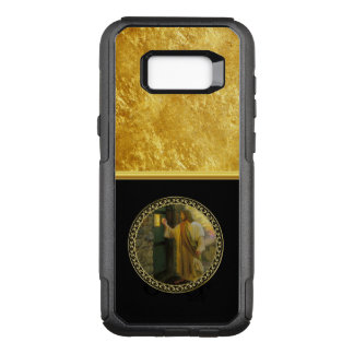 Jesus At Your Door in gold foil and black OtterBox Commuter Samsung Galaxy S8+ Case