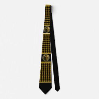Jesus At Your Door in gold foil and black Tie