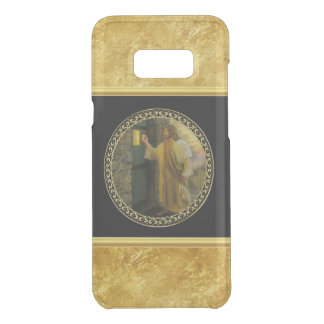 Jesus At Your Door in gold foil and black Uncommon Samsung Galaxy S8+ Case