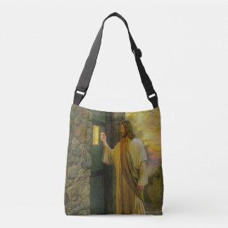 Jesus At Your Door Vintage Crossbody Bag