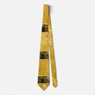 Jesus At Your Door with a gold foil design Tie