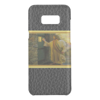 Jesus At Your Door with a gold foil design Uncommon Samsung Galaxy S8+ Case