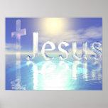 Jesús azul posters
