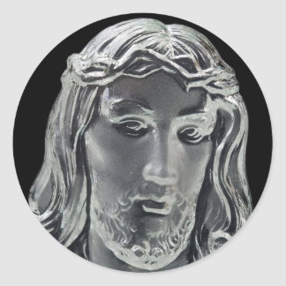 Jesus B&W Image Classic Round Sticker