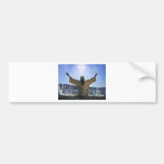 Jesus Baptism Bumper Sticker