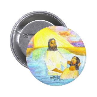 Jesus' Baptism Pinback Button