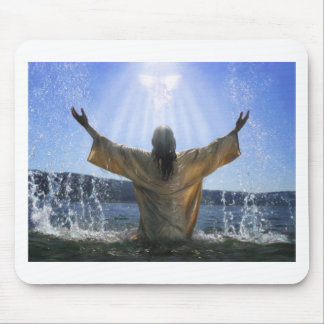 Jesus Baptism Mouse Pad