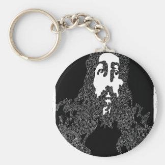jesus basic round button keychain