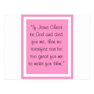 Jesus Be God Postcard