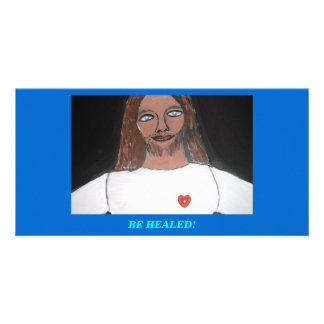 JESUS Be healed Picture Card
